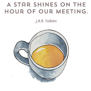 a star shines on the hour of our meeting